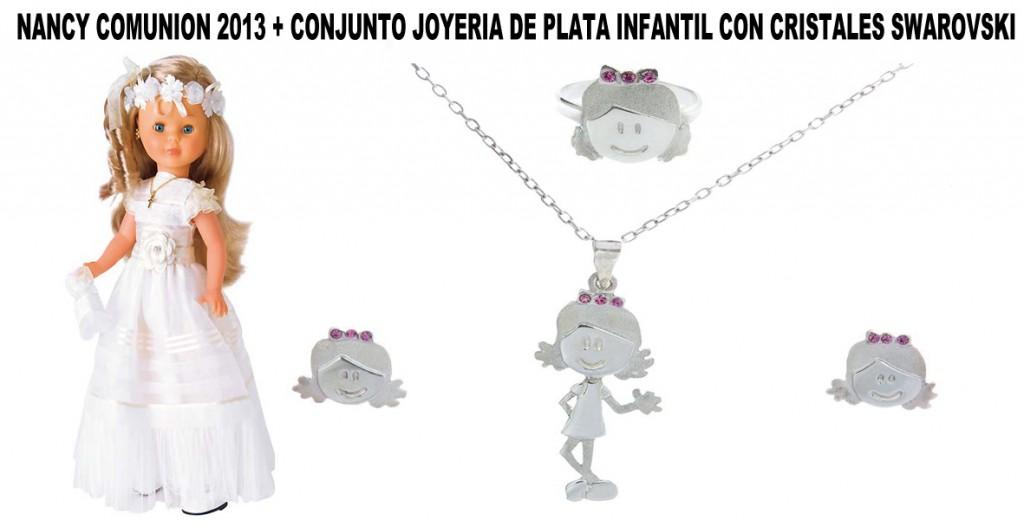 NANCY-COMUNION-2013-+-CONJUNTO-JOYERIA-DE-PLATA-INFANTIL-CON-CRISTALES-SWAROVSKI
