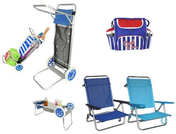 Carro para playa transportar sillas idea de la imagen de for Sillas para jugar a la play