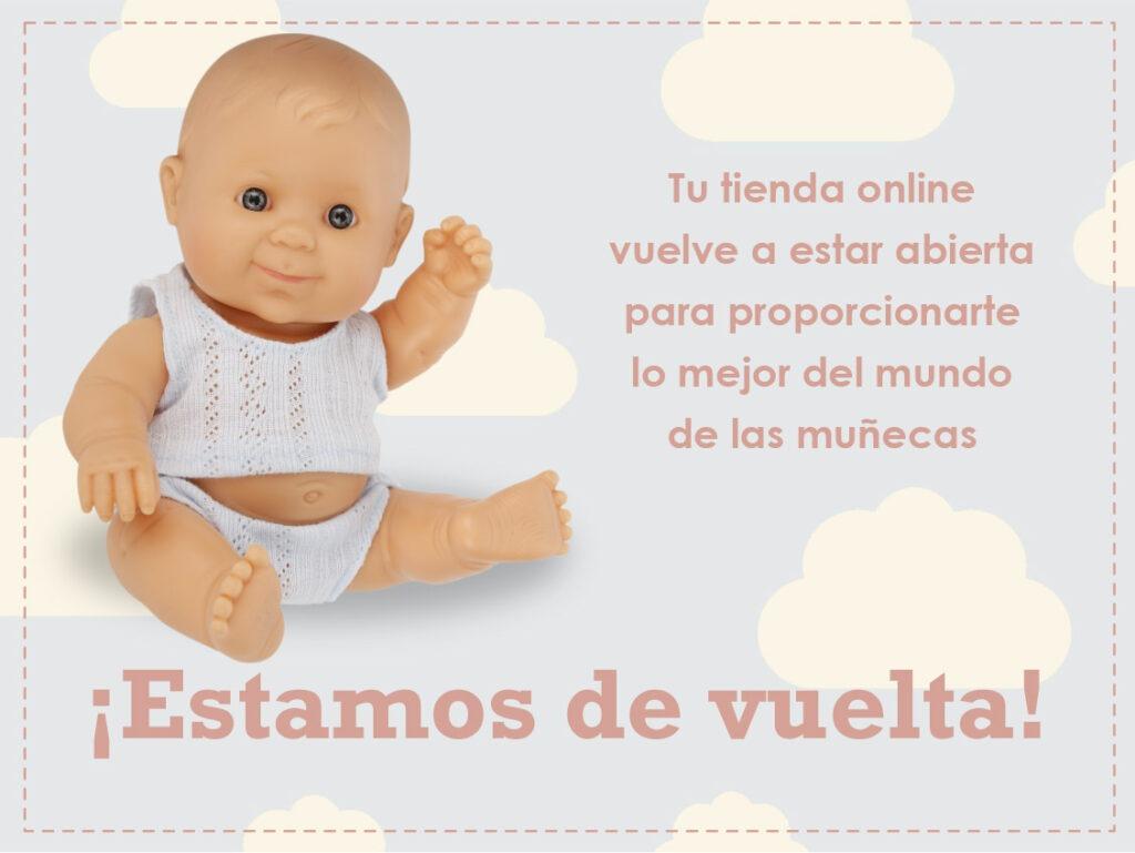 reapertura de tienda online de muñecas y juguetes