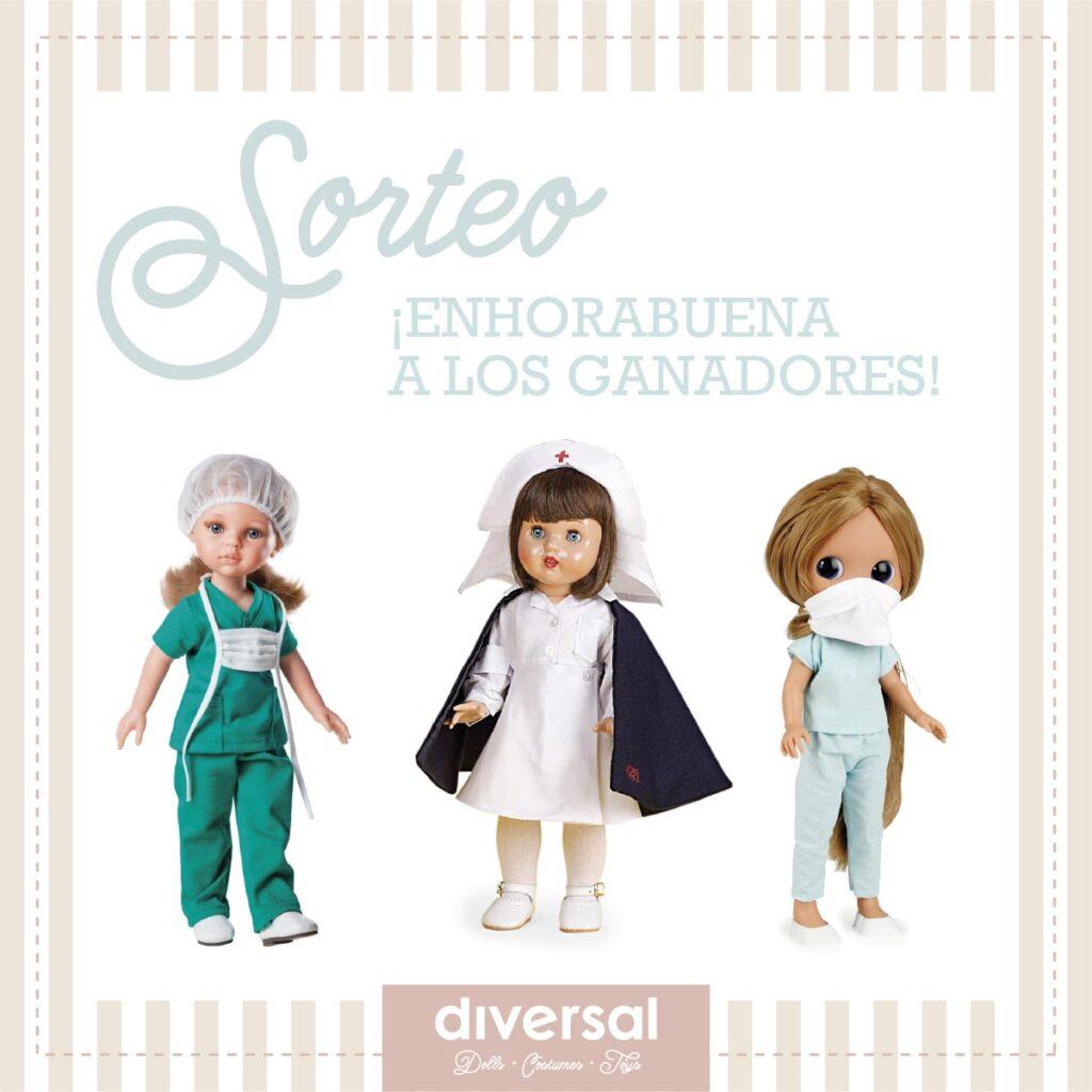 sorteo gracias sanitarias muñecas enfermeras - diversal